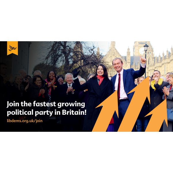 Lib dems Fastest Growing Party