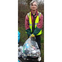 Robert Plimmer litter picking in Cipppenham Meadows in March 2018