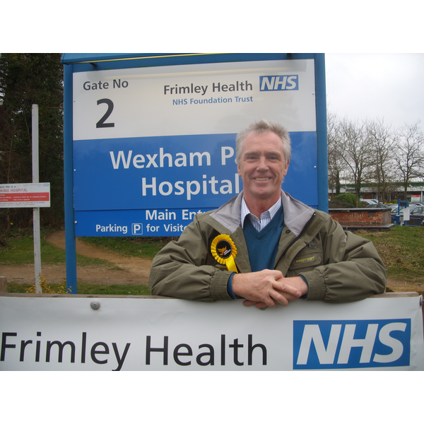 Tom McCann campaigning for better NHS funding