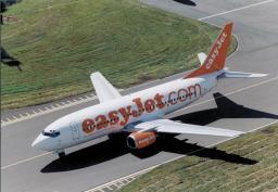 easyJet Boeing 737-300 Aeroplane on airport runway