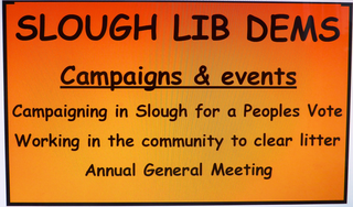 Slough Lib Dems Autumn 2018 campaigns