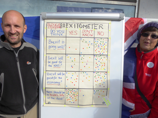 Slough Lib Dems with the People's Vote Brexitometer