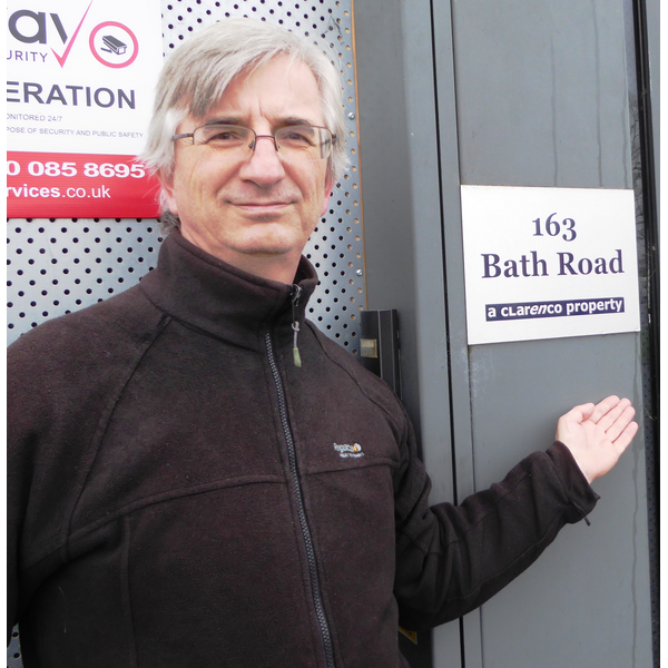Robert Plimmer in Bath Road campaigning for progress to deal with Slough's housing crisis