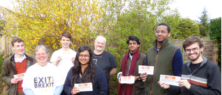 Rod Parkes and his delivery team of Lib Dem students in Upton_V2