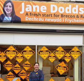 Niccola Parkes part of the Slough Lib Dem team helping Jane Dodds win the Brecon by-election