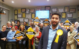 Aaron Chahal Lib Dem Prosepctive Parliamentary Candidate for Slough at meet the candidate