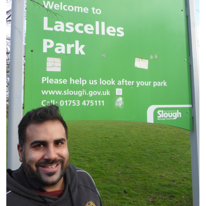 Sukh Dhillon at one of the parks in Upton