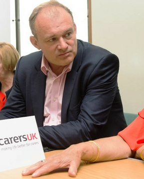Ed Davey, MP, Leader of the Lib Dems and long-time carer