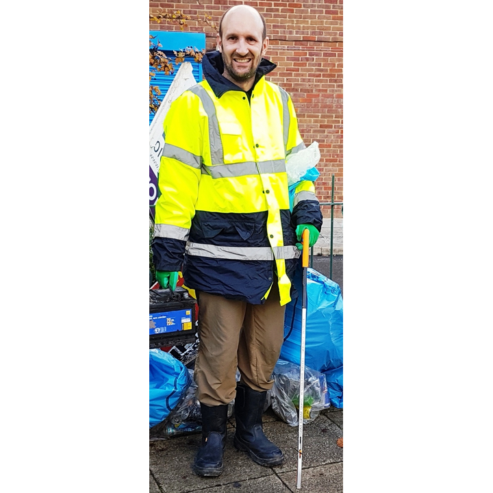 Matthew Taylor with results from a Cippenham litter pick led by Lib Dem Focus team
